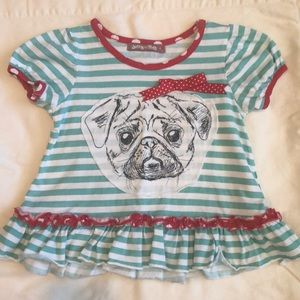 Jelly the Pug size 4 Top EEUC